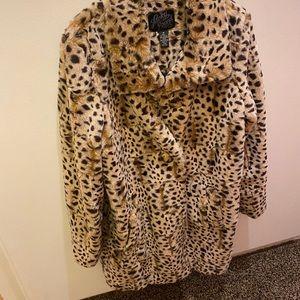 Lucky Brand animal print coat.